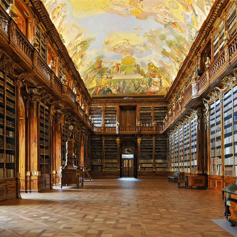 Historical library of Strahov Monastery in Prague