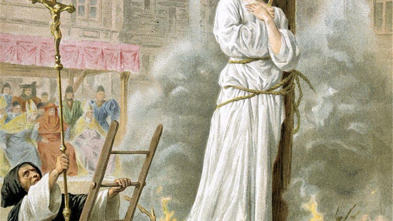 Juana de Arco fue condenada a la hoguera