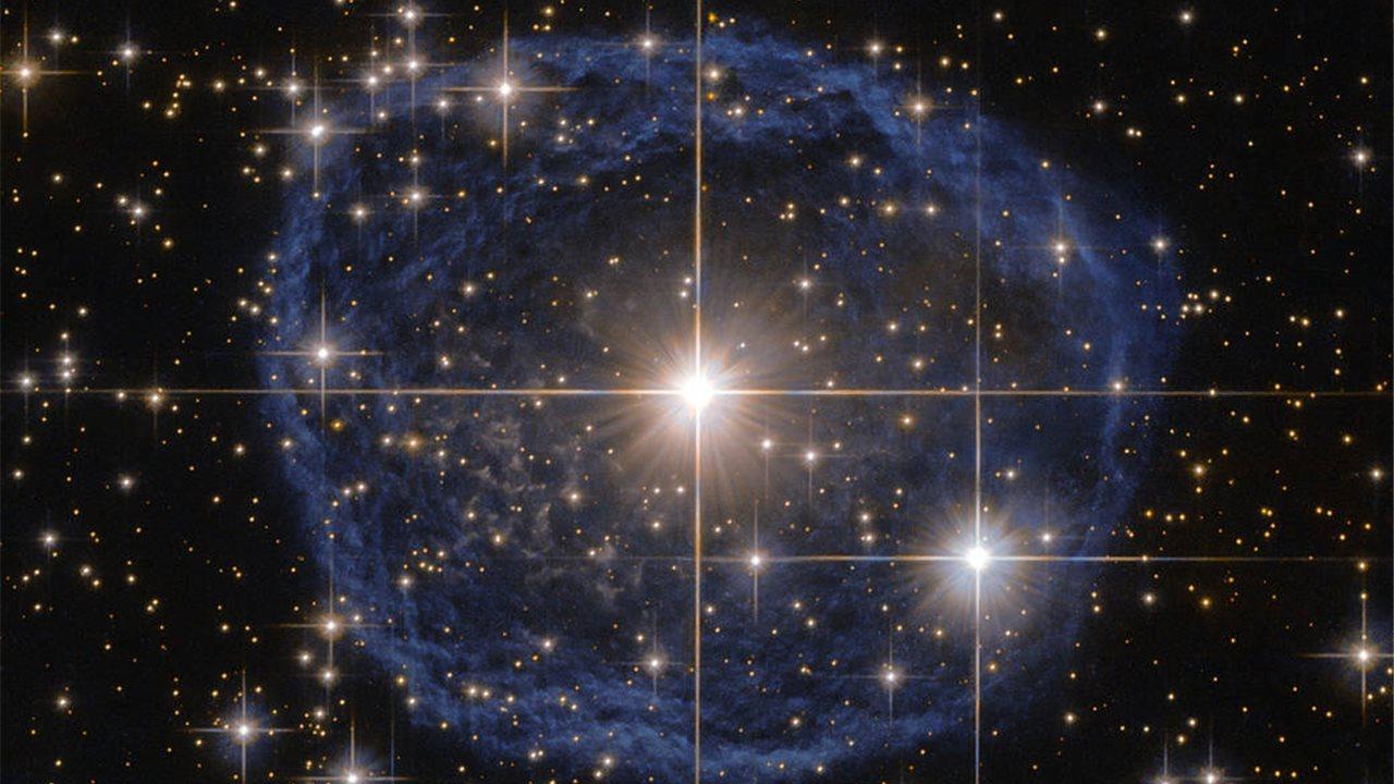 Una burbuja azul cósmica