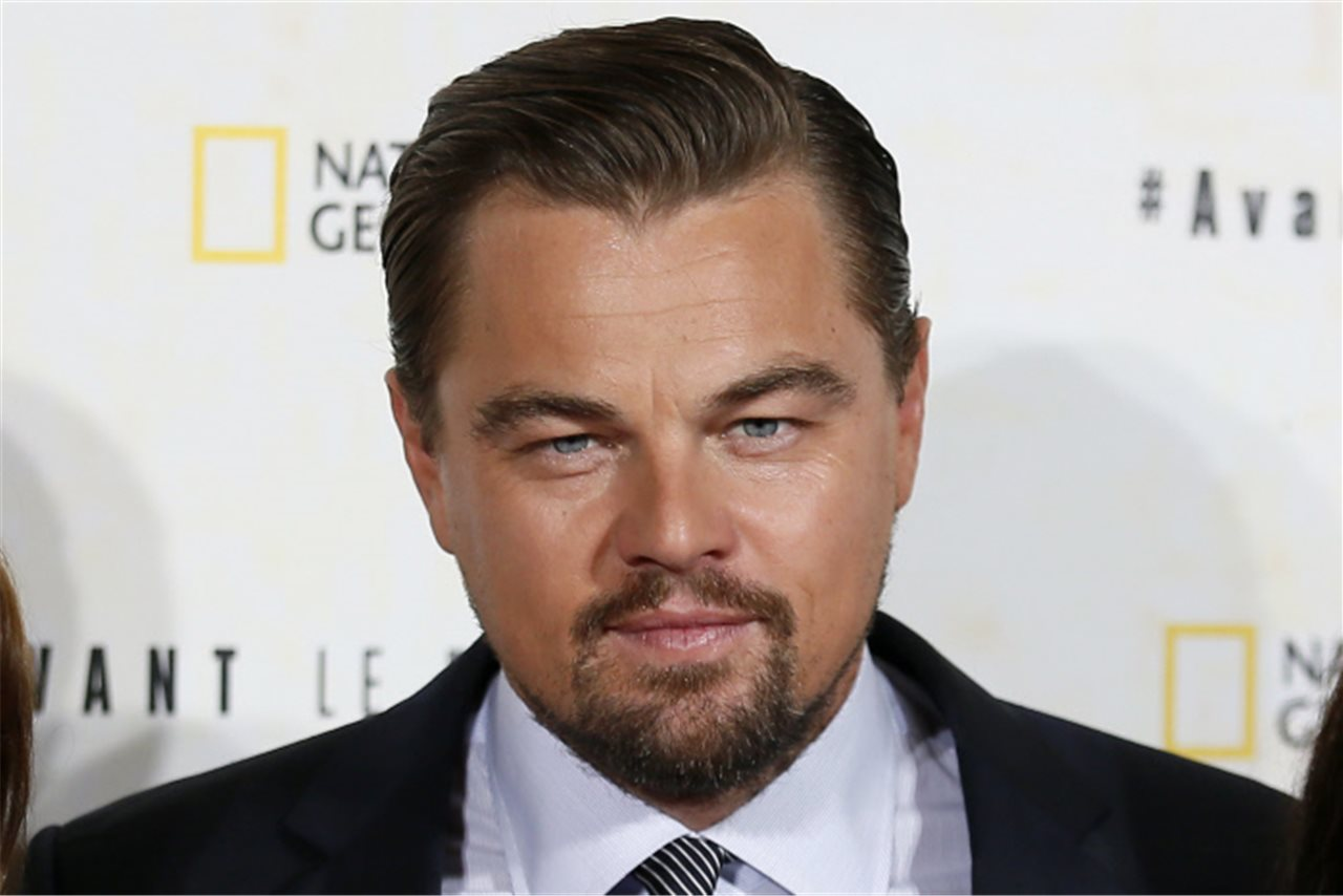 "Leonardo DiCaprio durante la presentación del documental ""Before the flood"" de National Geographic"