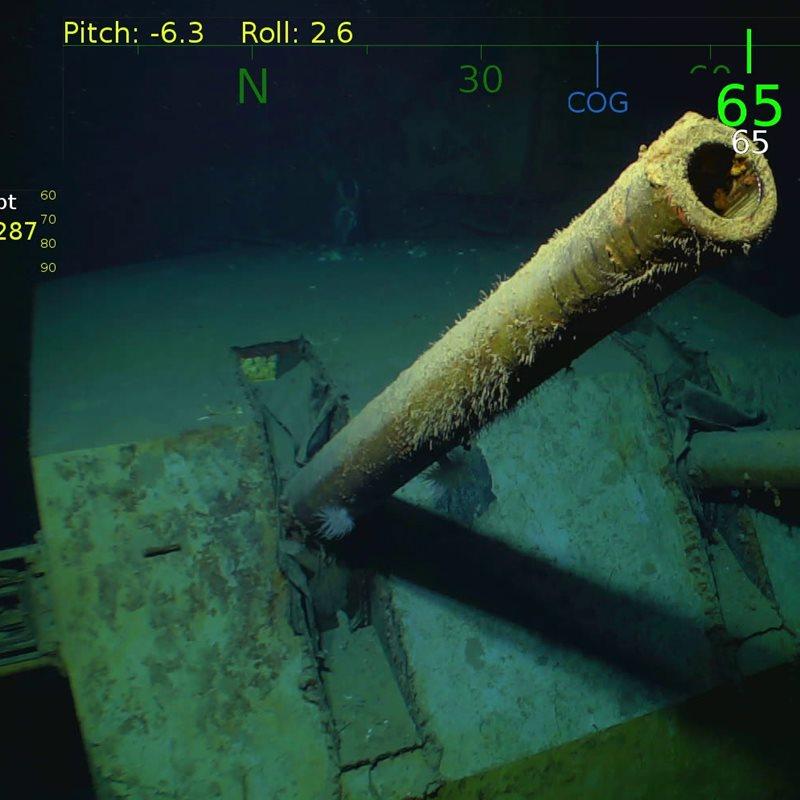 Localizan los restos del fatídico buque de guerra \'Indianapolis\'