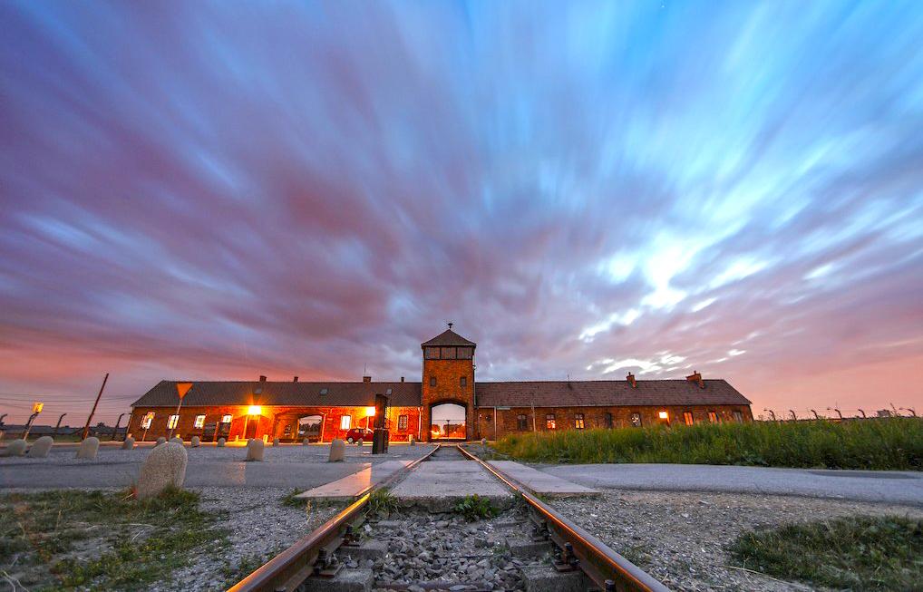 Entrada Birkenau. Museo Auschwitz-Birkenau (Polonia)