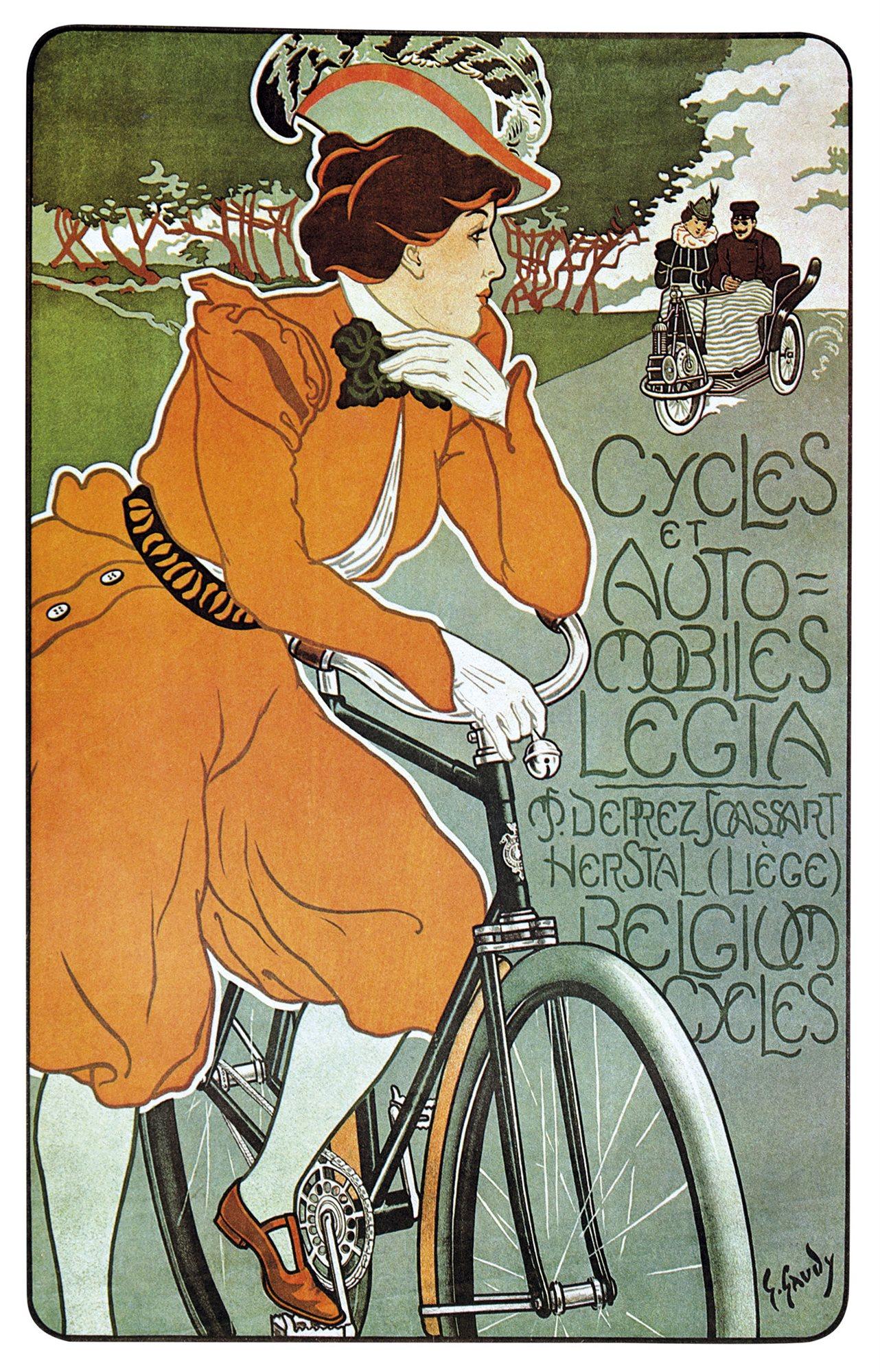 anuncio-bicicleta. Anuncio de un fabricante de bicicletas belga