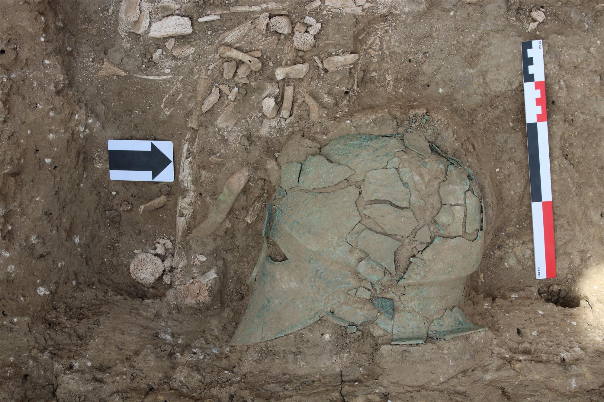 Hallado un casco corintio del siglo V a.C. en el suroeste de Rusia