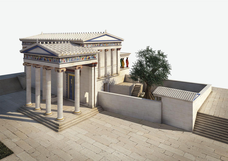 01 ilustracion erecteion acropolis atenas. El Erecterion
