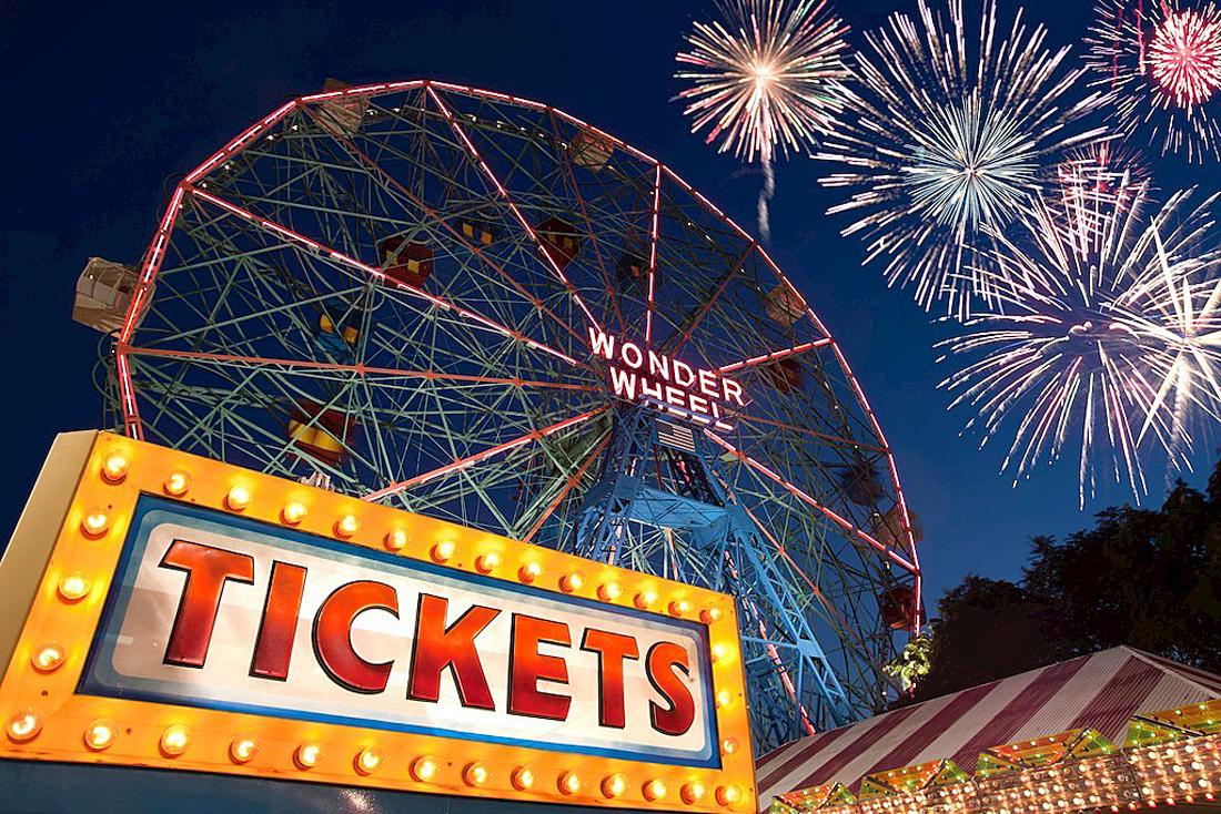 Coney Island. Luna Park, en Coney Island ( Estados Unidos)