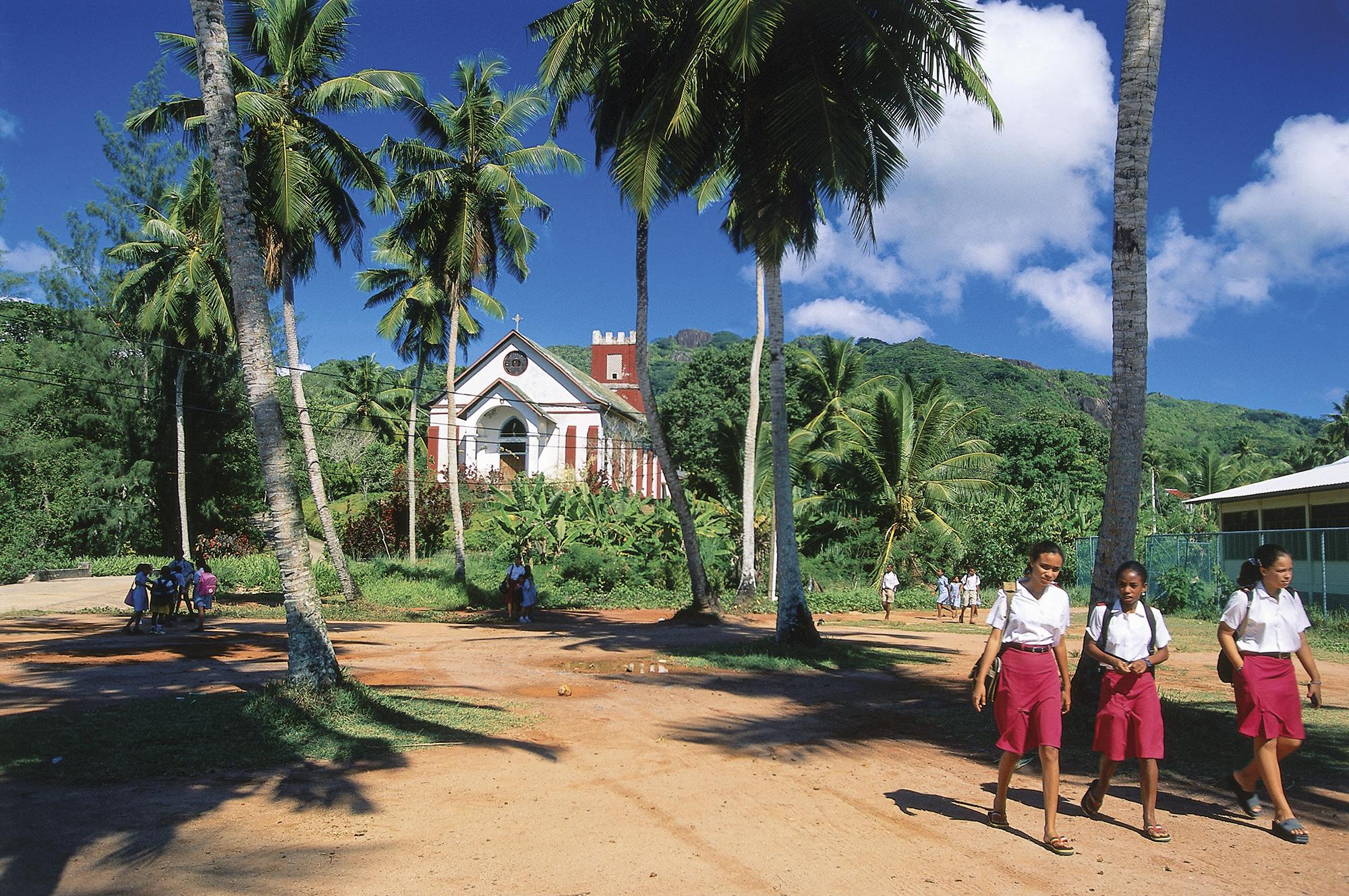iglesia-catolica-seychelles. Iglesia católica cerca de Anse Boileau (Mahé)
