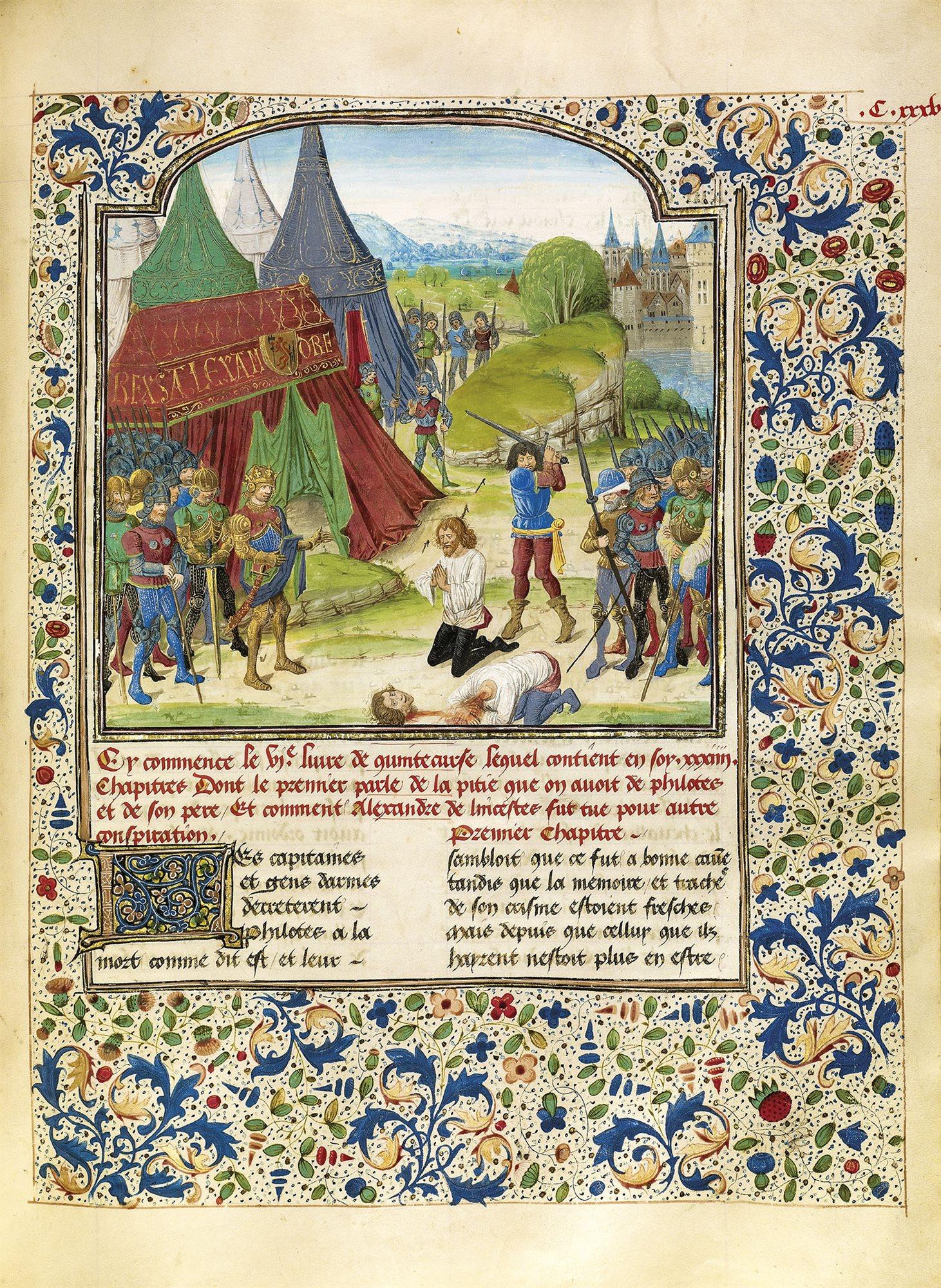 La muerte de Filotas y Parmenión