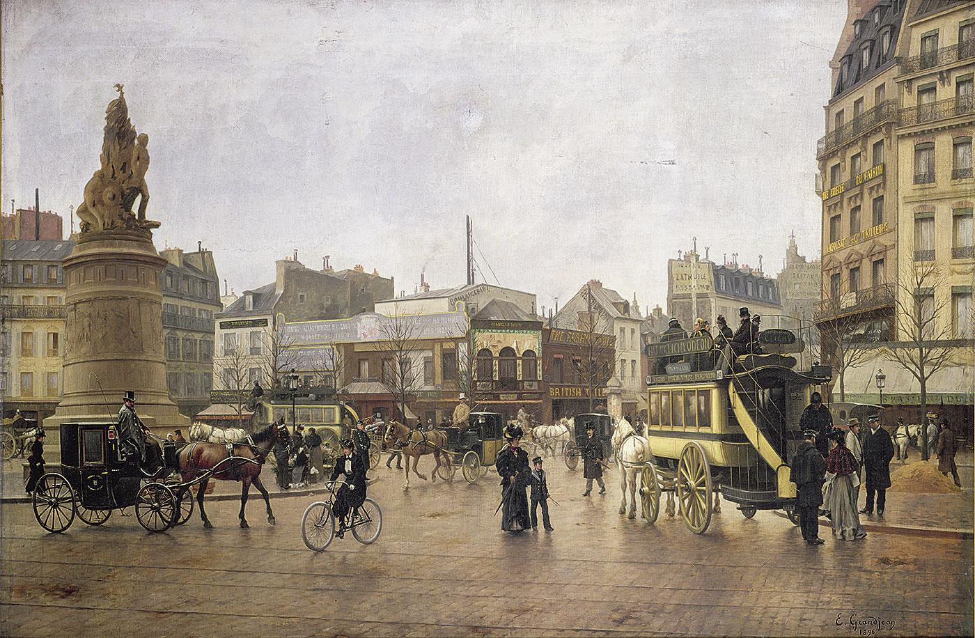 La plaza Clichy de París en 1896 0c71a8c16ad