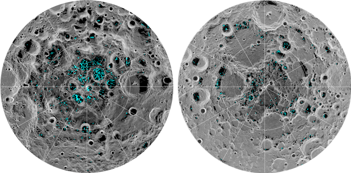 La evidencia directa y definitiva de que hay agua helada en la Luna