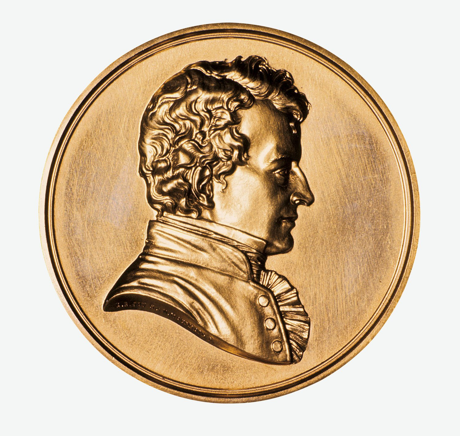 04 medalla imagen Humphry Davy. Humprhy Davy