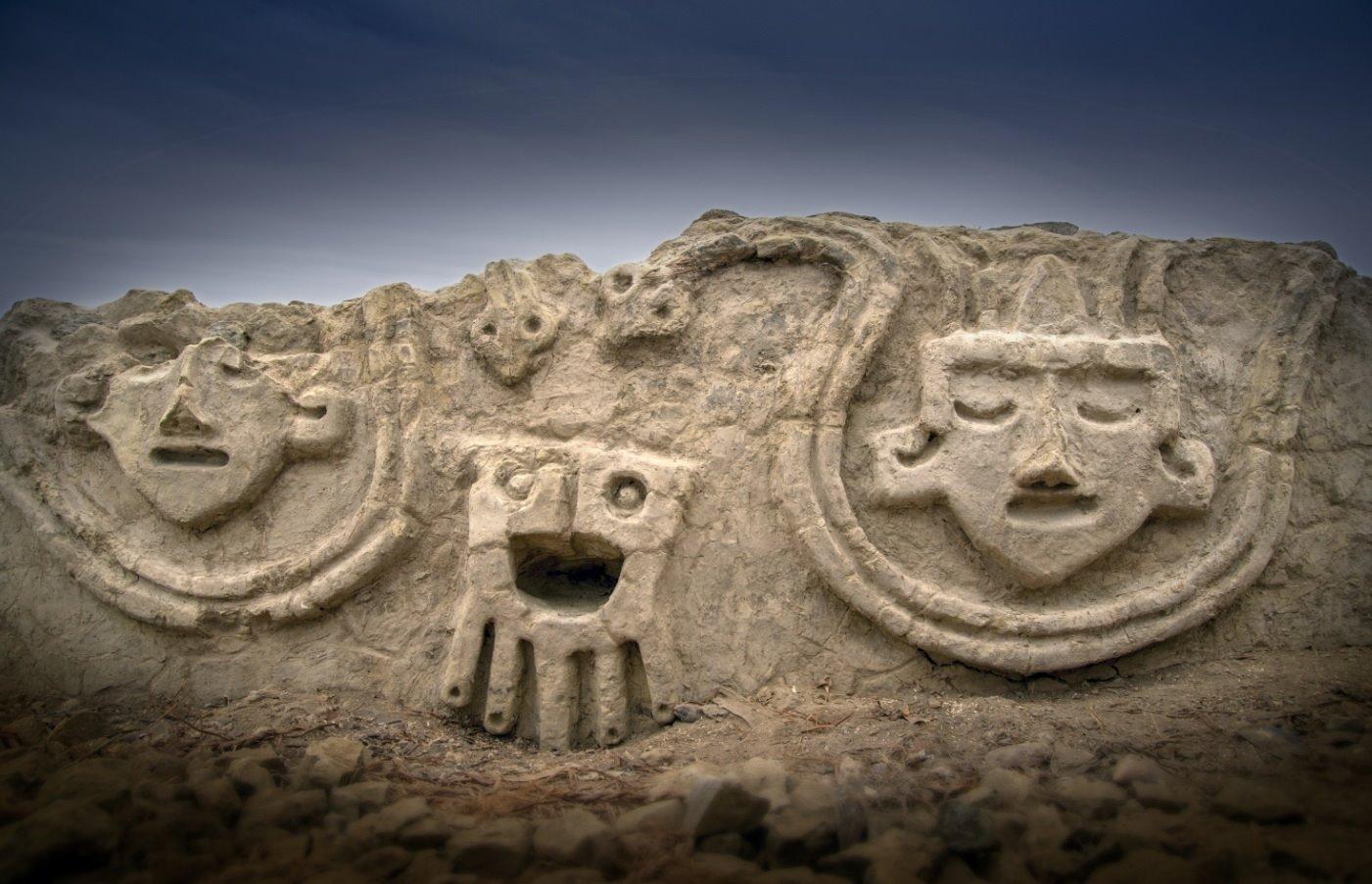 vichama1. Relieve escultórico de 3.800 años de antigüedad