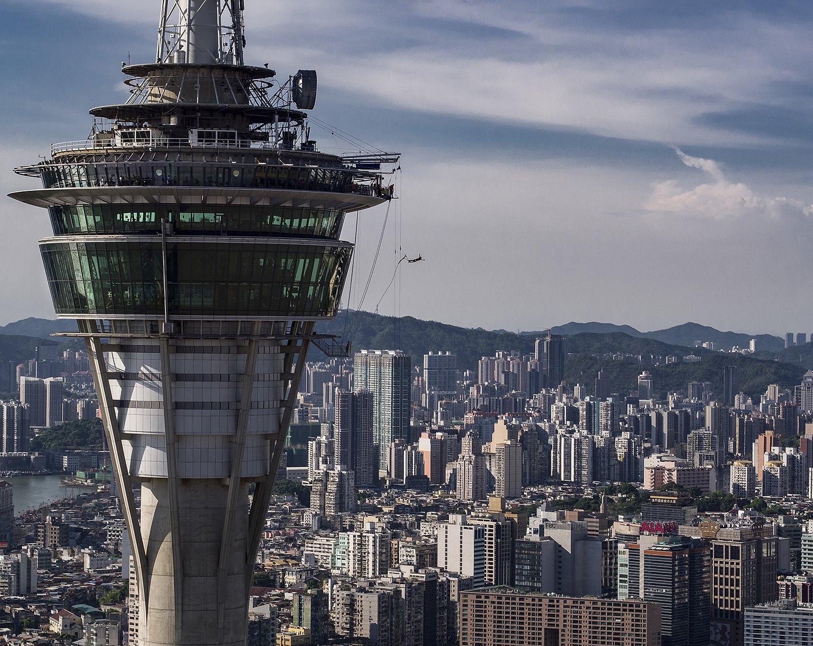 Bungy Jump Macao. El bungy jump más alto del mundo