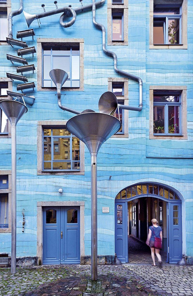 Patio de los elementos - Dresde. Pasaje Kunsthof
