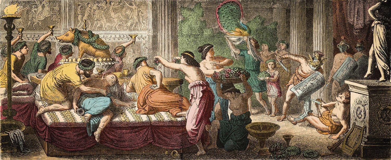 Resultado de imagen de banquete romano