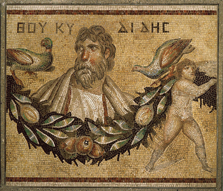 02 mosaico Gerasa Jordania. Los mosaicos de Gerasa