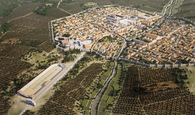 03 reconstruccion Gerasa Jordania. Una urbe cosmopolita