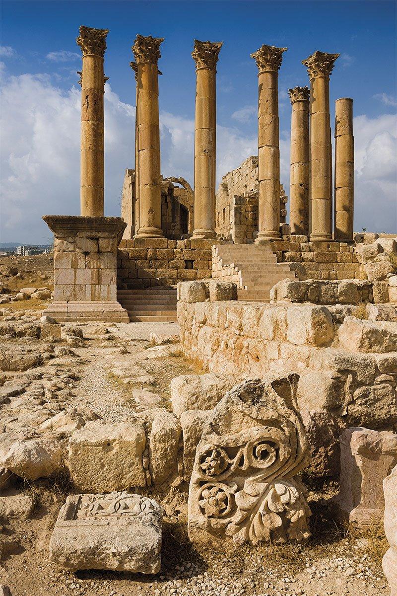 04 templo Artemis Gerasa Jordania. El templo de Ártemis