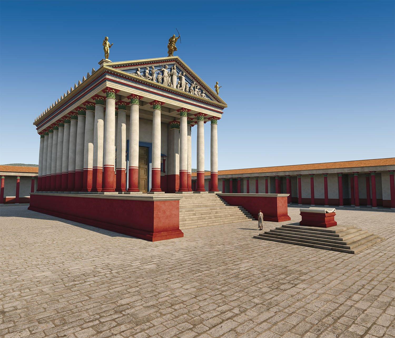 10 templo Artemis Gerasa Jordania. Una visión del templo de Ártemis