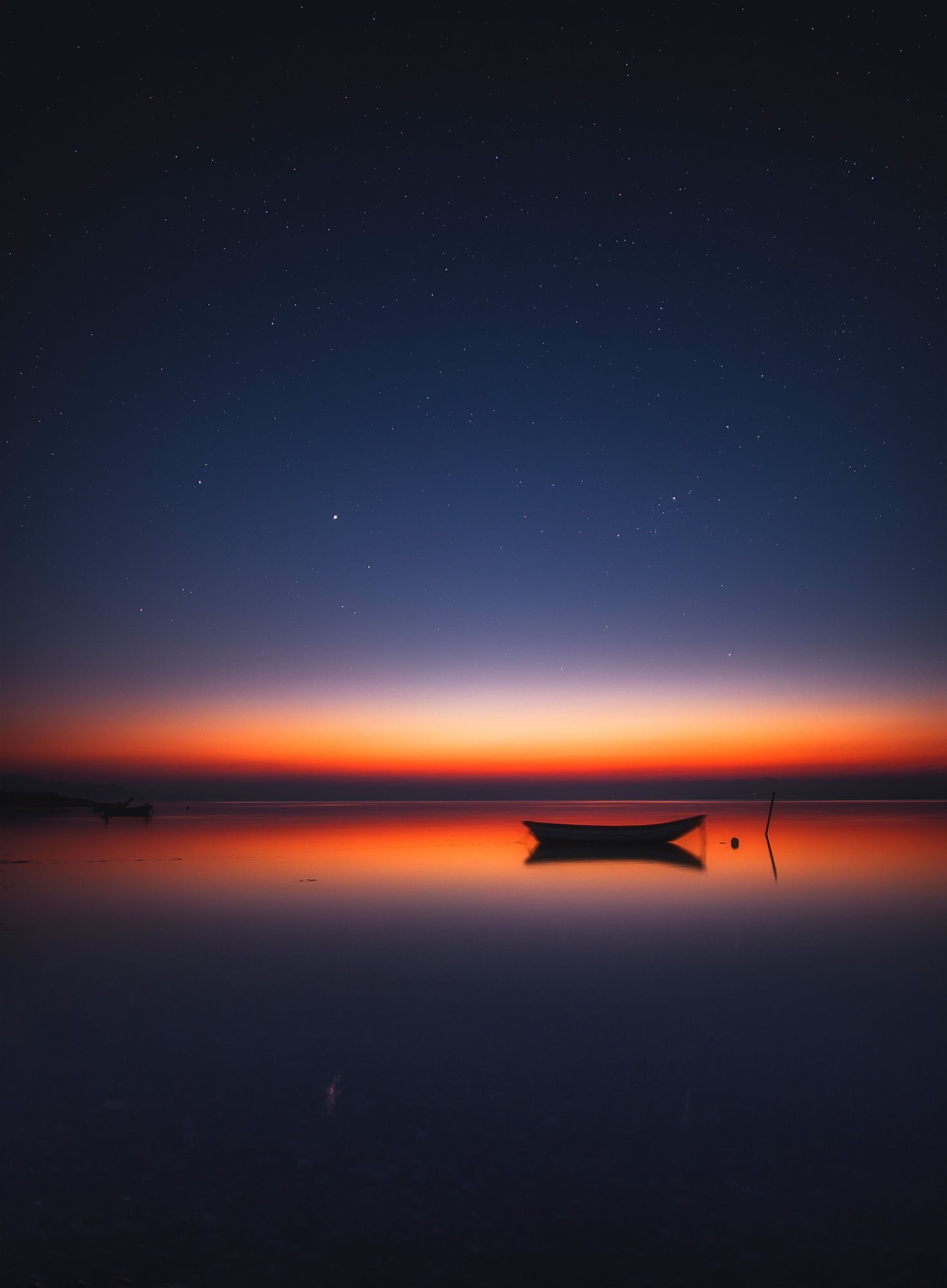 Midnight glow over Limfjord