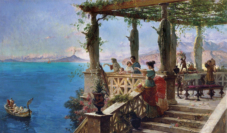 01 vacaciones mar Roma ocio villa Napoles. Vacaciones junto al mar
