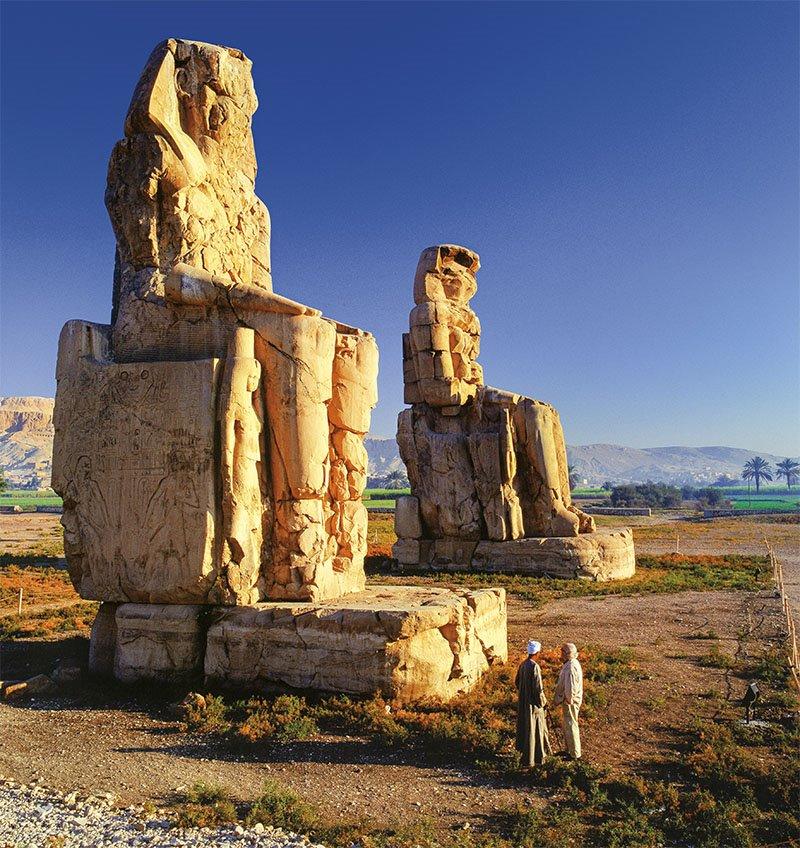 09 colosos memnon Egipto vacaciones roma. Los colosos de Memnón