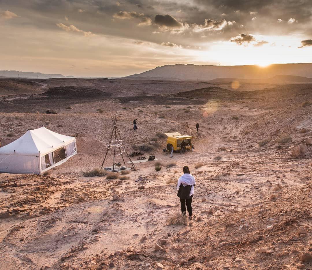 Lujo en mitad del desierto de Israel. Glamping en el desierto del neguev, Israel