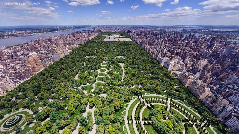 Figuras geométricas en Central Park