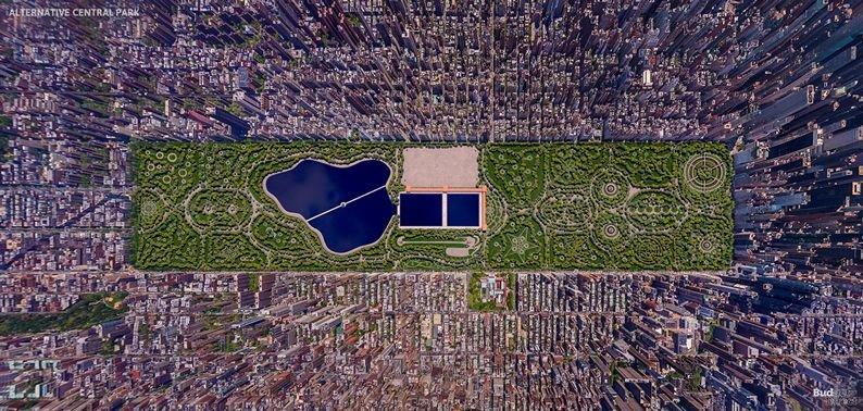 Vista aérea de Central Park