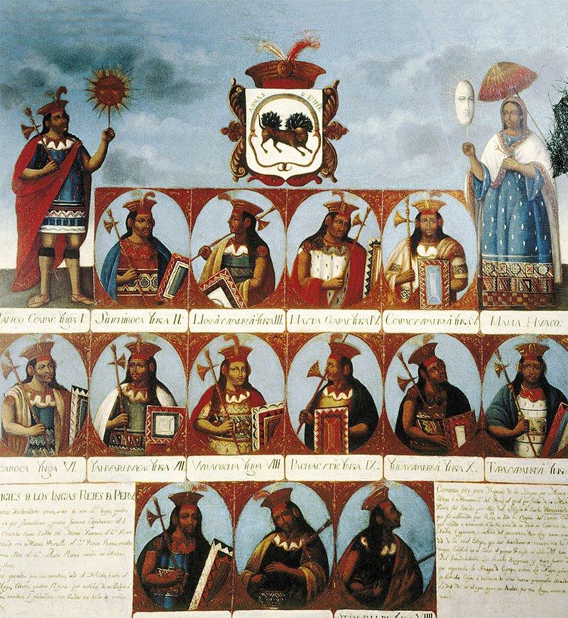 02 genealogia incas Manco Capac Vilcabamba. Los grandes soberanos