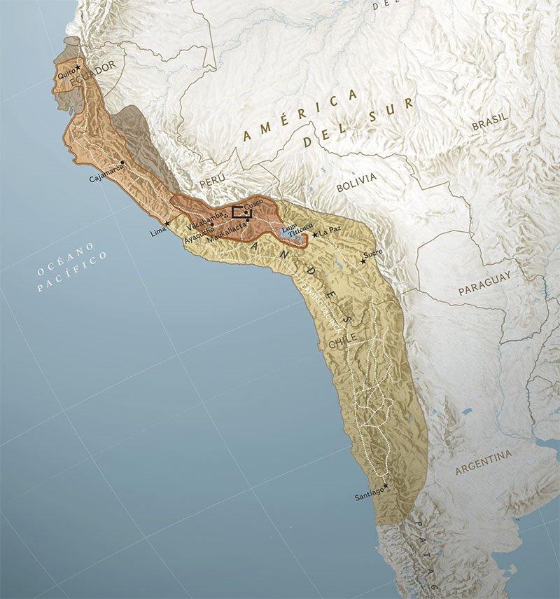 06 mapa imperio inca Vilcabamba. Un imperio gigantesco
