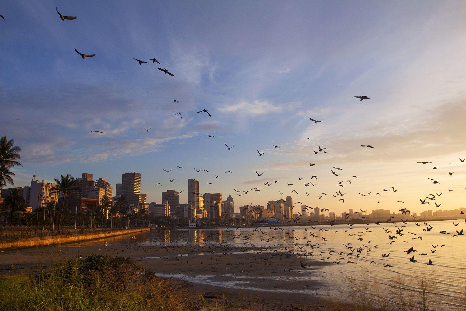Playa de Durban. Sudáfrica celebra la Navidad en bañador