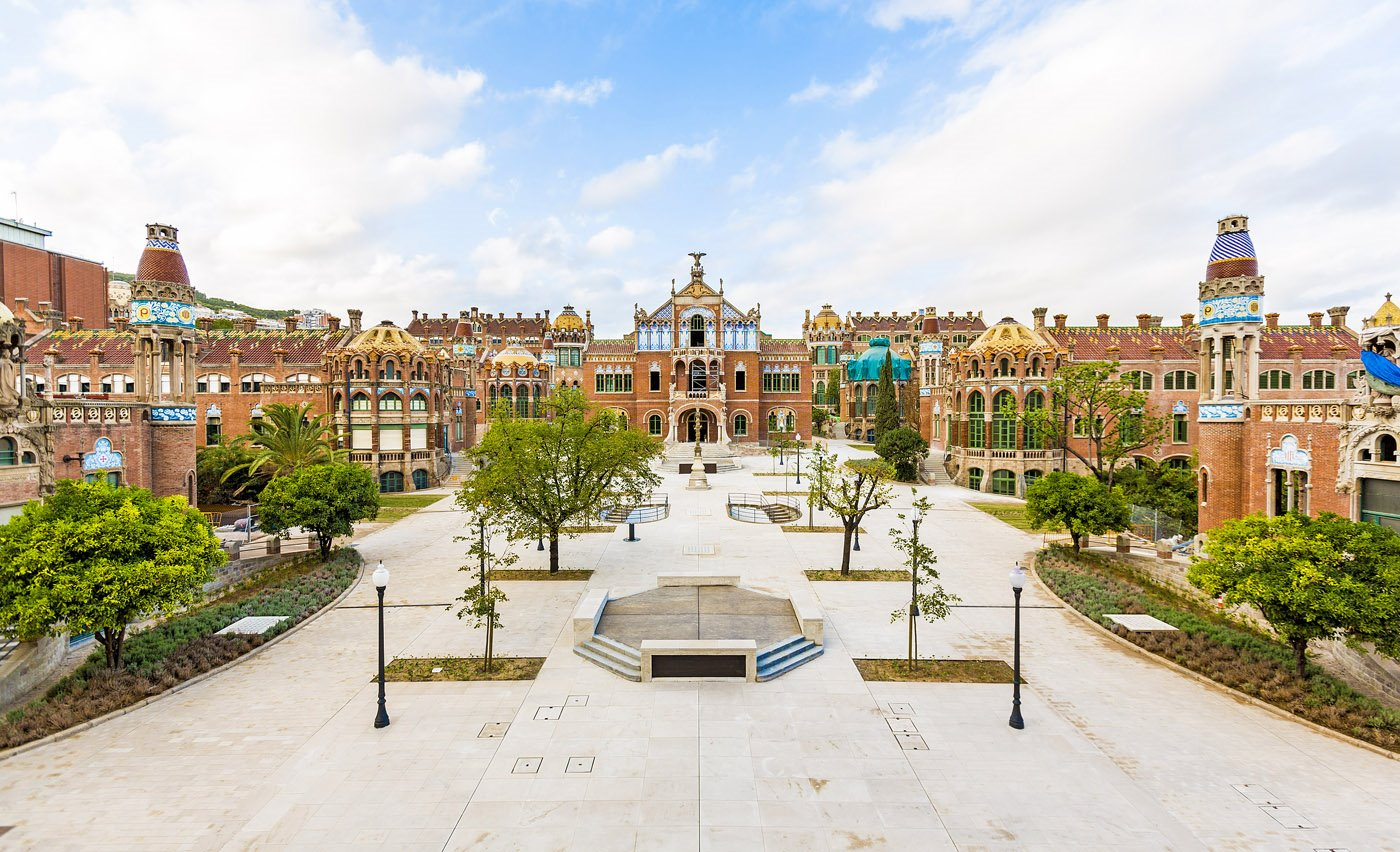 Hospital modernista. Palau de la Música Catalana y hospital de Sant Pau en Barcelona
