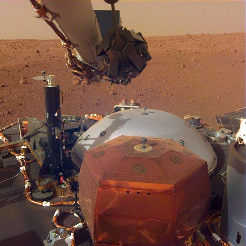 El InSight de la NASA ha registrado los vientos que soplan en Marte: así suenan