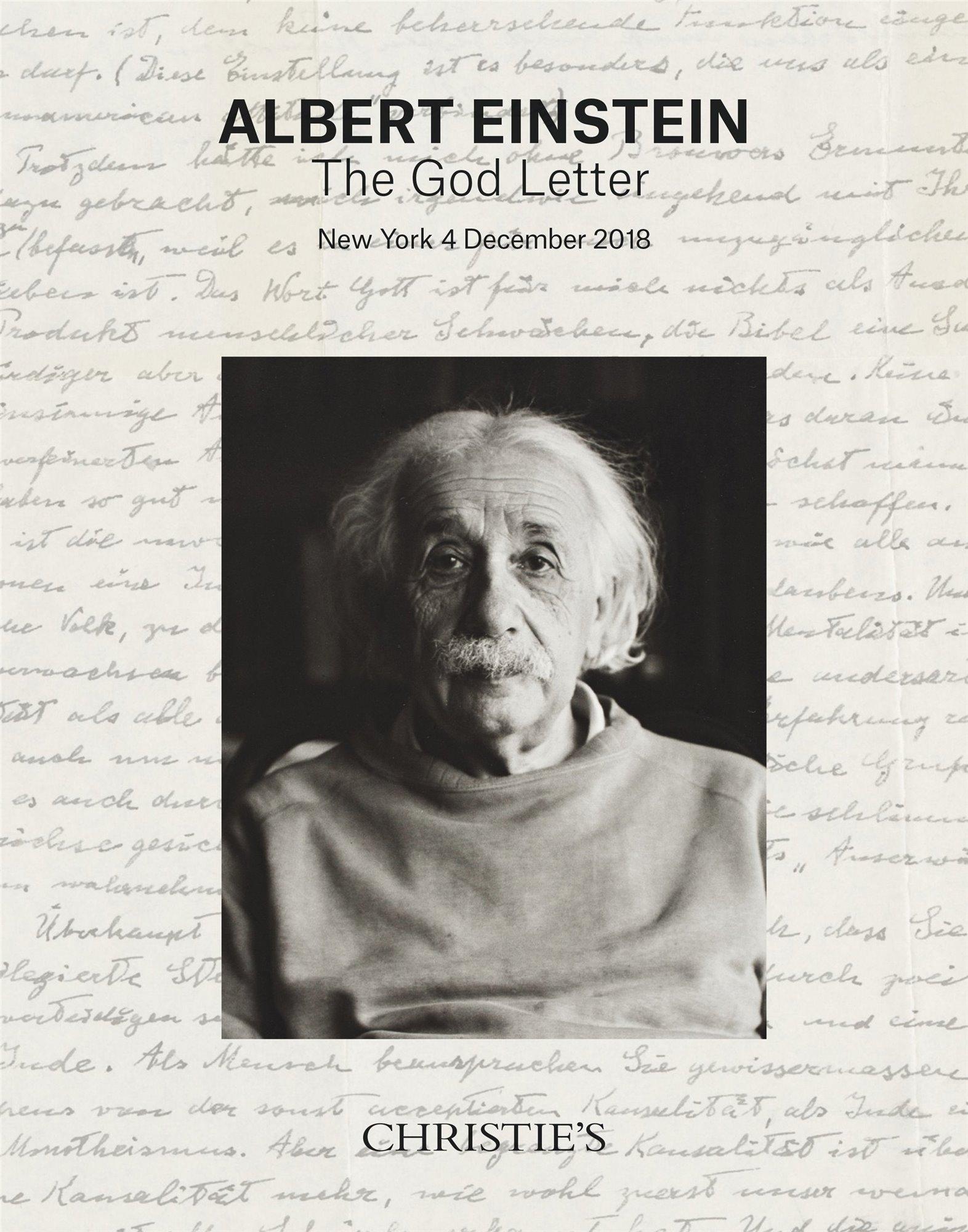einstein1. Cifra récord para una carta de Einstein