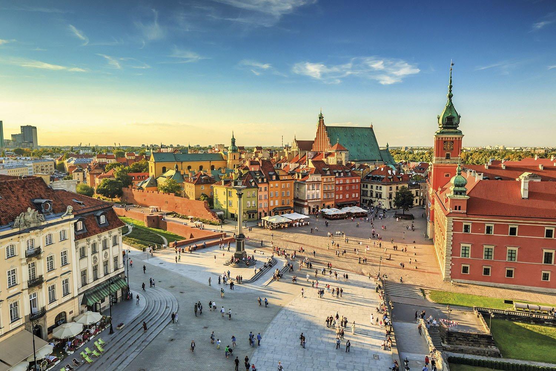 Varsovia - Plaza del Castillo. Varsovia
