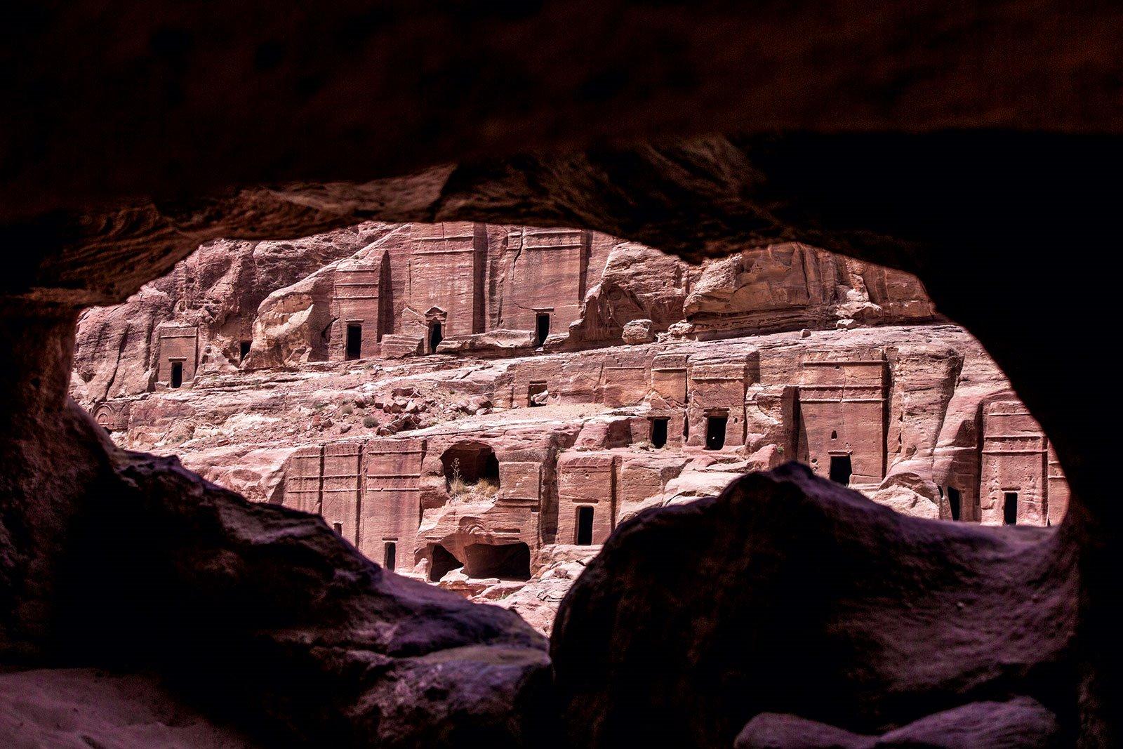 Ciudad funeraria. Petra era una ciudad funeraria