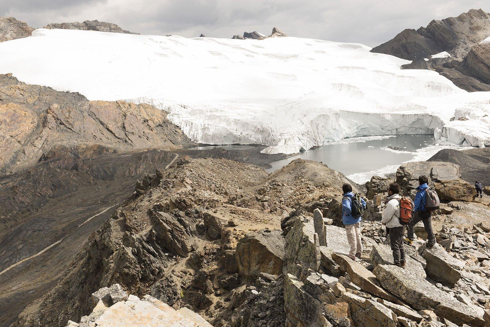 Cambio climático en el Glaciar Pastoruri. Cambio climático en el glaciar Pastoruri