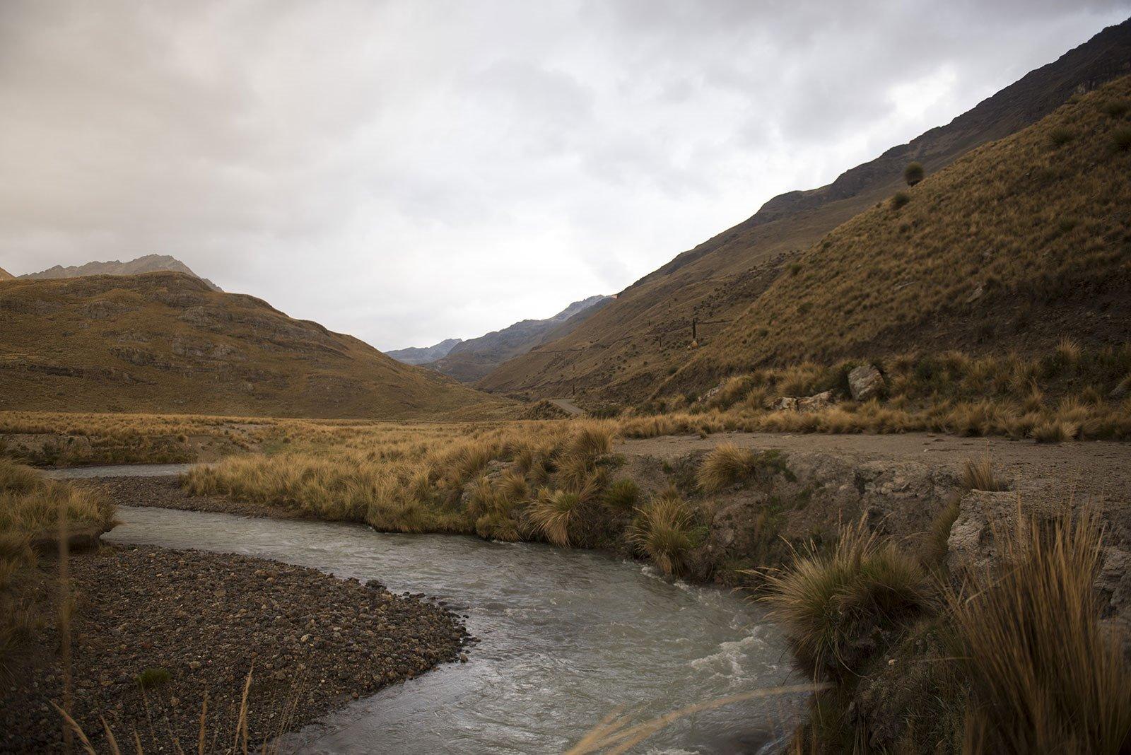 Camino hacia el Glaciar Pastoruri