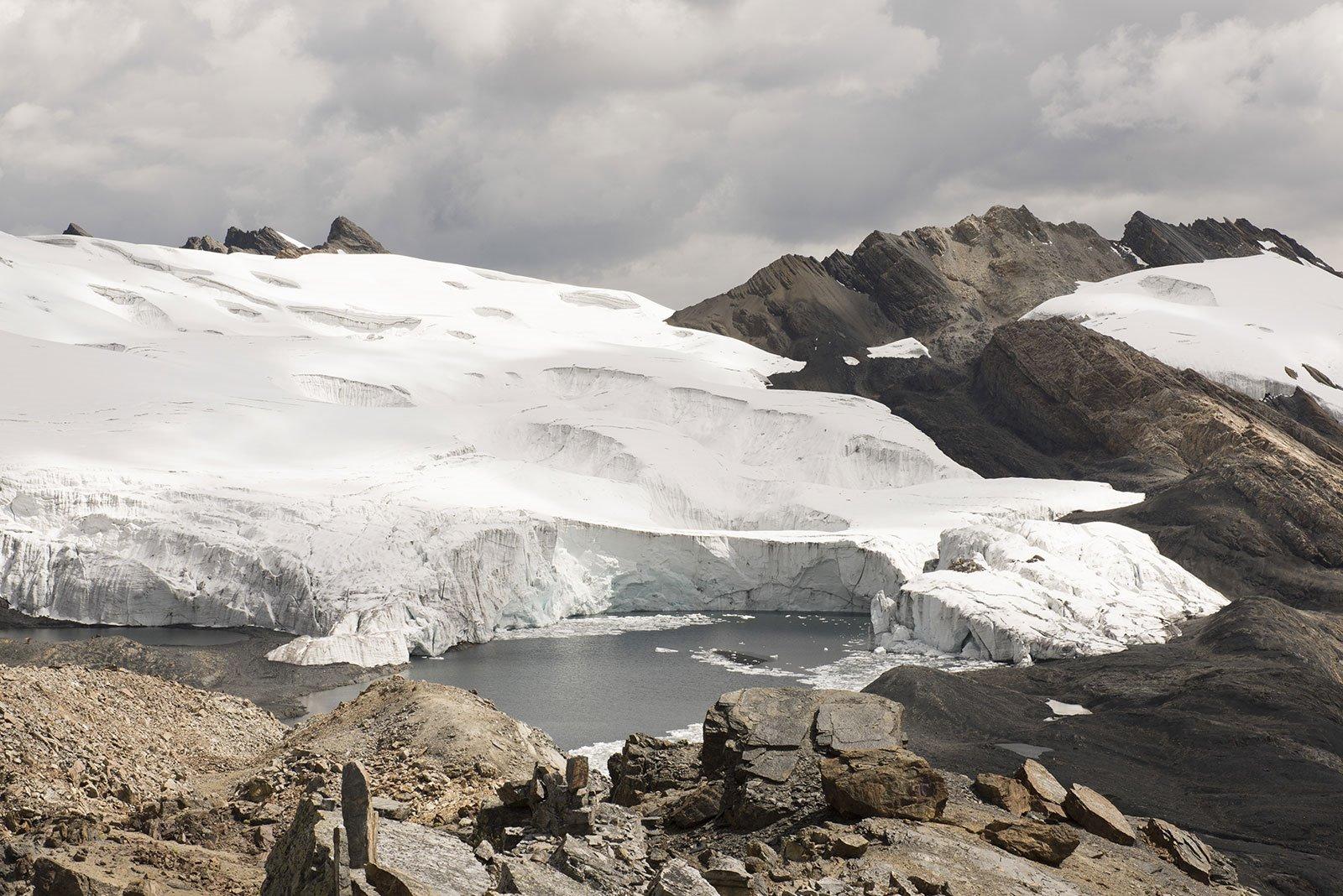 Retroceso del Glaciar Pastoruri. Ruta del Cambio Climático