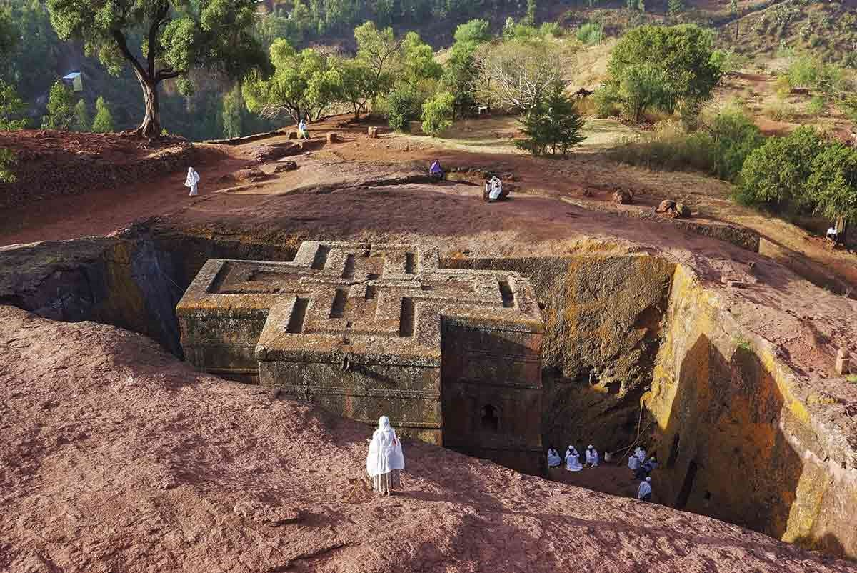 qpx-146626731. Iglesias excavadas en roca de Lalibela