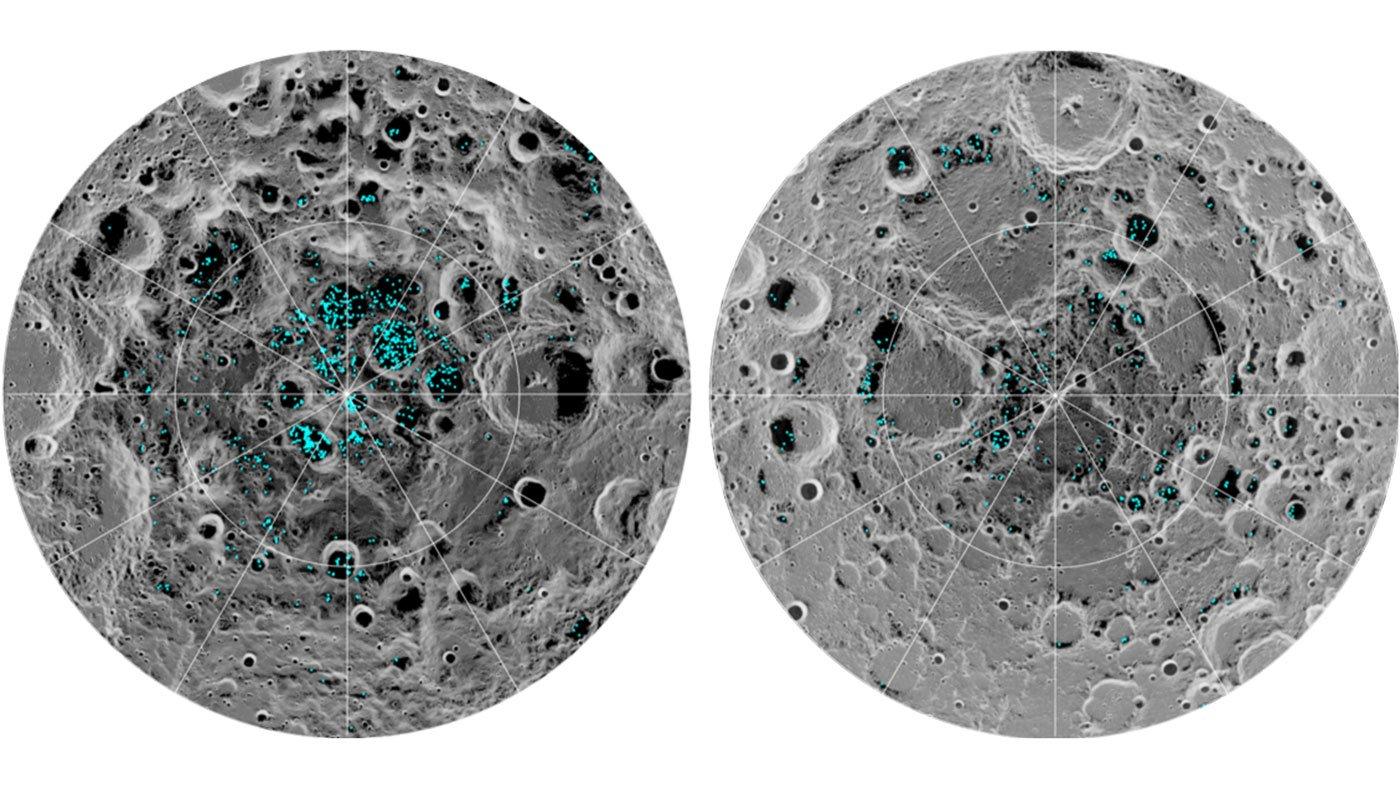 aguaheladaluna. Agua en la Luna y en Marte