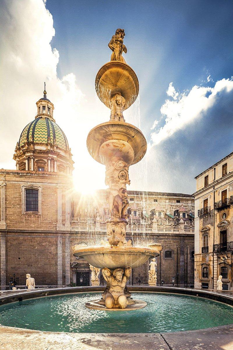 Fontana della Vergogna Palermo. Fontana della Vergogna en Palermo