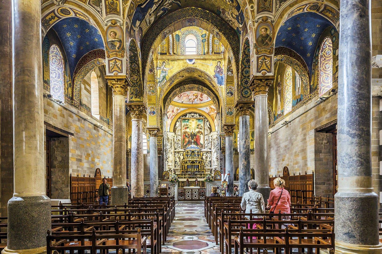 Interior Iglesia de la Martorana.  Iglesia de la Martorana