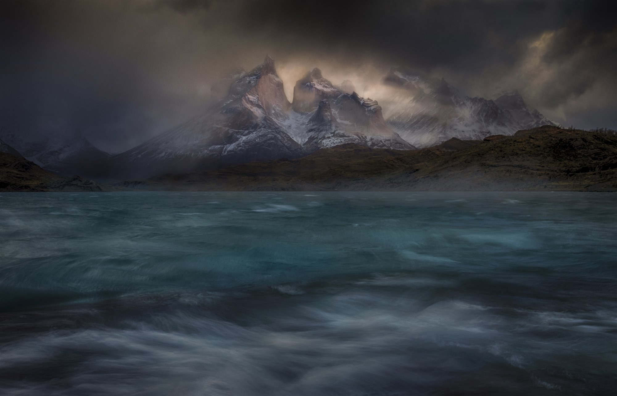 PeterSvoboda-Story winds over the Torres del Paine. Torres del Paine, Patagonia