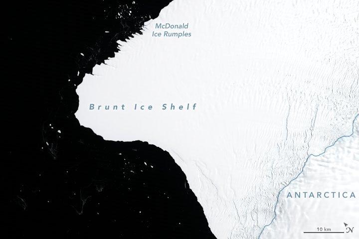 Plataforma de hielo Brunt. 30 de enero,1986