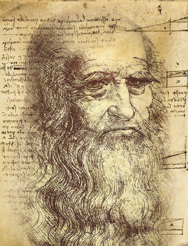 02 Autorretrato de Leonado Da Vinci. ¿Autorretrato de Leonado?