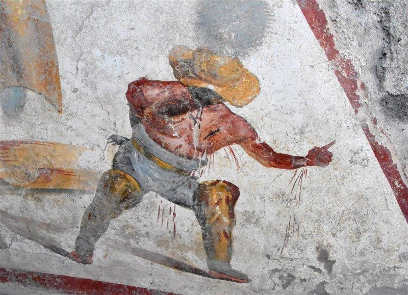 Detalle del fresco encontrado en Pompeya.