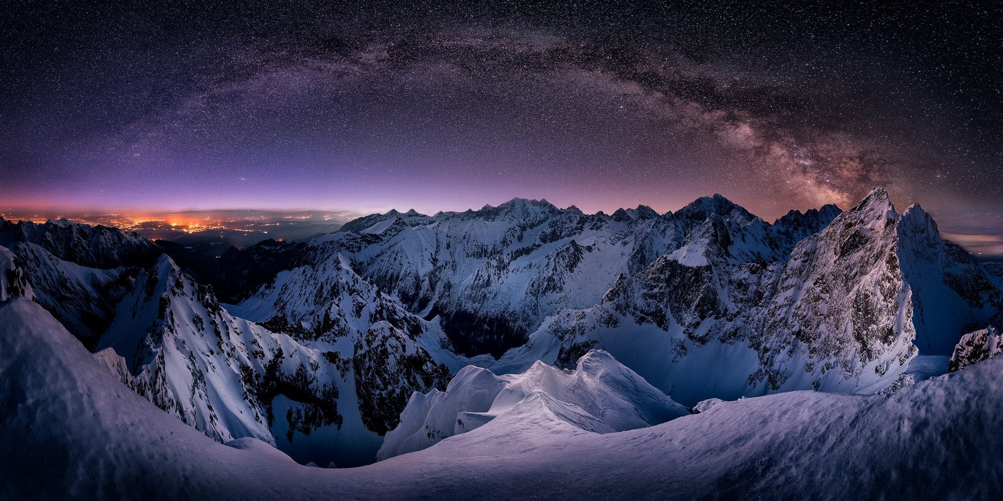 Milion Stars In Mountains High Tatras
