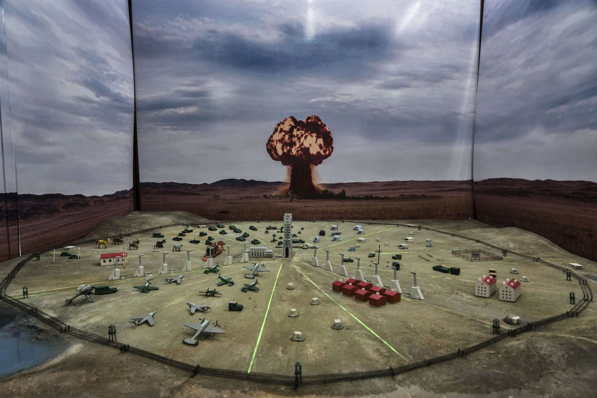 A model reproducing the site of the Semipalatinsk nuclear tests